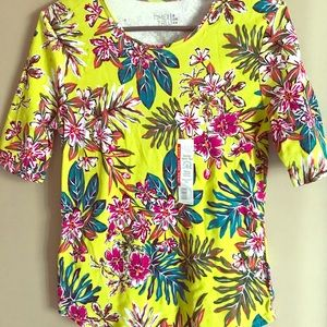 NWT Size Small Elbow Length Sleeve 4-6 100% Cotton